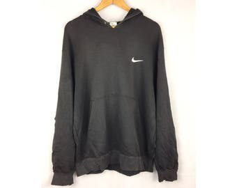 NIKE Hoodies Long Sleeve Hoodies With Small Embroidered Logo XXL Size