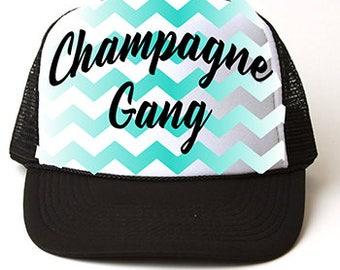 Custom Airbrush Champagne Gang Hat