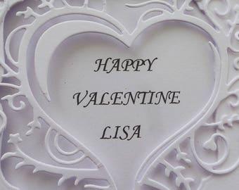 Personalised valentines Card Valentine Suzy Lewis card, personalised for boyfriend, girlfriend, wife, husband, fiancee, valentines card