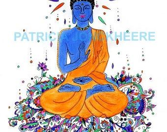 "Buddha sat and benevolent ""Kashmir style"""