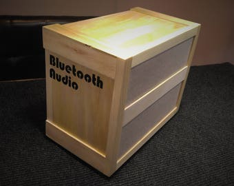 Bluetooth Audio System Wood Crate