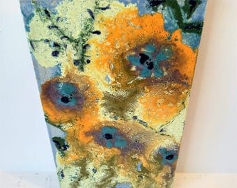 "4 0'Clock On Sunday - 8"" x 6"" Original Abstract Ceramic Painting"