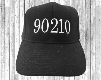 90210 Embroidered Baseball Cap 6 Panel Fashion Hat Tumblr Pintrest Trends