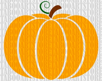 Pumpkin Cut File, Pumpkin SVG , Silhouette Cut File, Pumpkin file, Cricut Cut Files, Pumpkin Clipart, SVG Files haloween