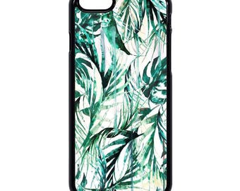 """Animated leaves """"Green jungle"""" Hard iPhone case 5/5s/5se/6/6s/6+/7"""