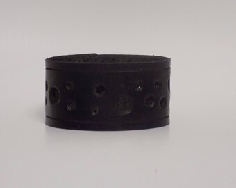 Black Leather Cuff, Men's Leather Cuff, Women's Leather Cuff, Wide Leather Cuff, Black Leather Bracelet - Leather Jewelry, Leather Bracelet