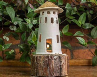 Handcrafted CeramicTealight Lighthouse