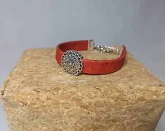 Bracelet red Cork