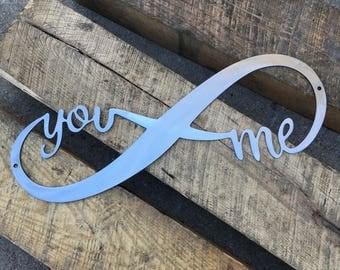 You & Me Metal Wall Art