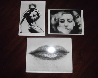 Man Ray Photography Postcards and Note Card 1988