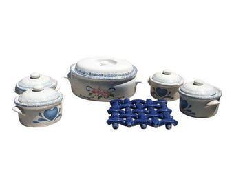 Ceramic Bowls & Trivet- 11 Pieces