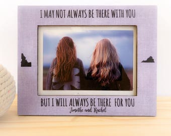 Personalized Best friend Frame Long Distance Friendship Frame Sorority Sisters Gift Soul Sister Frame