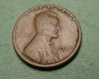 Lincoln Wheat Cent 1922-D  Good<> # ET3991