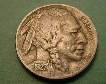 1927-S  Buffalo Nickel  Very Fine  # ET6465