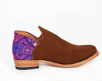 Ik-Boho Leather Ankle Boots