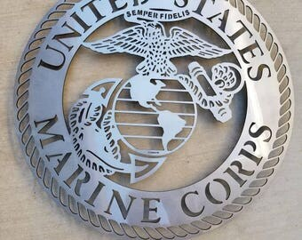 Marine Logo Wall Art Single Layer