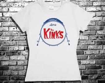 The Kinks Drum Kit T-Shirt - S to 2XL - SIxties Drum Kit Ludwig  Beatles The Rolling Stones Swinging London Rock Ray Davies T-shirt Retro