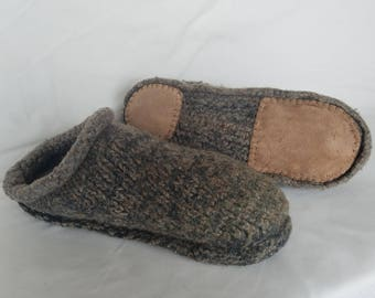 Men's felted clogs - Sue's custom
