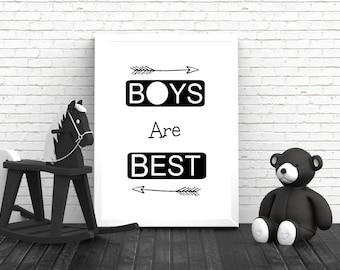 Monochrome Nursery Print - Nursery Print - Nursery Decor - Nursery Wall Art - Boys Nursery - Kids Room - Boys Bedroom - Black and White