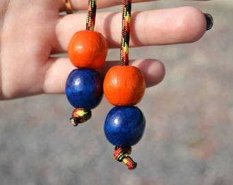 Fidget toys every day carry begleris beads autism anti stress Monkey Fist begleri blue and orange komboloi hand spinner gemstone worry beads