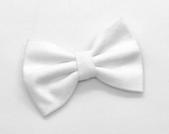 True White Hair Bow