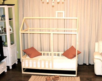 twin size house bed wood bed nursery twin mattess home. Black Bedroom Furniture Sets. Home Design Ideas