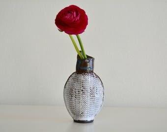 Pottery Flower Vase, flower lover gift