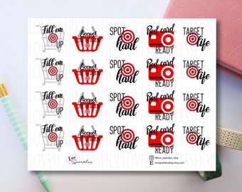 Target | Shopping | Retail Therapy | Red Card | Stickers | Functional | Planner Sticker | Scrapbooking | Matte