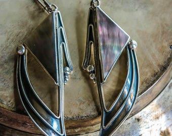 """Silver Earrings """"Triangles"""""""