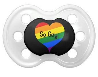 "DD/lg ""So Gay"" Pacifier"