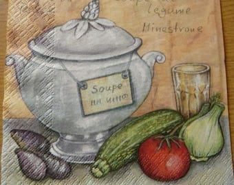 Paper towel vegetable soup