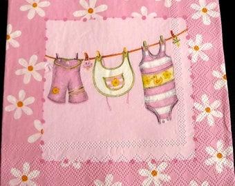 Lay baby linen napkin