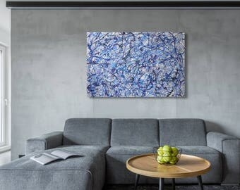 "24"" x 60"" large abstract painting"