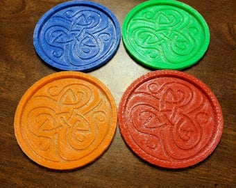 3d Printed Irish Celtic Knot Coaster for St Patrick's Day