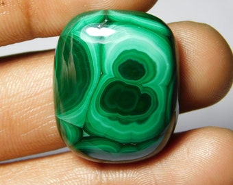 Awesome quality Malachite Cabochon,Loose Stone,Gemstone,Gorgeous Malachite Cabochon Excellent Gemstone 100%Natural 65.45cts.(28x23x6)mm