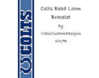 Colts Bead Loom Bracelet Pattern by VikisCustomDesigns