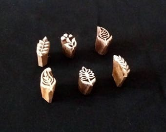 Wood, small leaf seals (6)