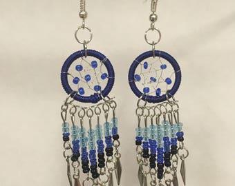 Blue Dream Catcher Earrings