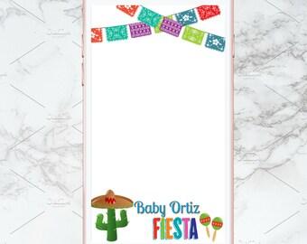Fiesta Baby Shower Geofilter
