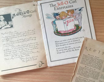 Vintage Jello Girl cookbooks/advertisements