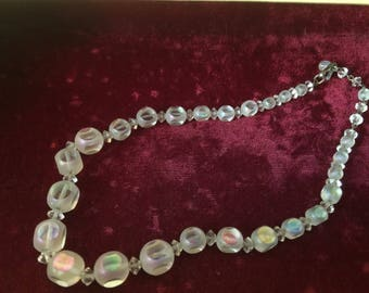 Glass Necklace / Crystal Necklace - Vintage
