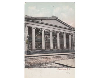 RHODE ISLAND: The Arcade, Providence - Vintage Postcard, mailed in 1907
