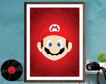 Nintendo Wall Art super mario nintendo video game poster art print poster