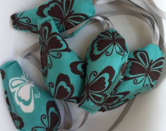 Organic Catnip Mouse Toy - Blue Butterfly Pattern