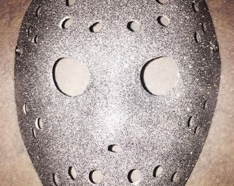 Jason Voorhees Silver Glitter Bling Mask Friday the 13th