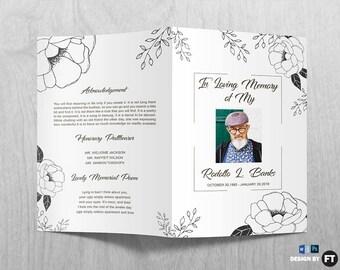 purple flower funeral program template printable memorial. Black Bedroom Furniture Sets. Home Design Ideas