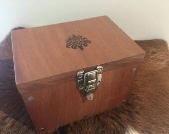 Wooden box, native australian brushbox, jewellery box, pet urn, keepsake box, treasure, trinket box