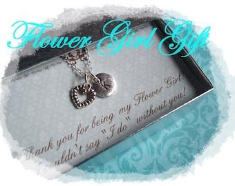 FLOWER GIRL GIFT - Flower Girl Necklace, Personalized Flower Girl Gift, Flower Girl Gift Ideas, Flower Girl Jewelry, Flower Girl Gift Box
