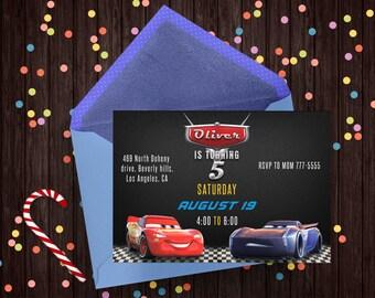 Cars 3 Invitation, Cars 3 Party, Cars 3 Birthday, Cars 3, Cars Invitation, Disney Cars, McQueen Invitation, Cars 3 Birthday Party, Movie