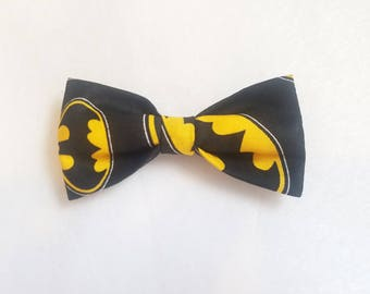 Batman bow tie with elastic as attachment for kids boy toddler or baby